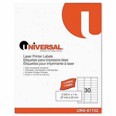 Universal® Laser Printer Permanent Labels, 1500/Box