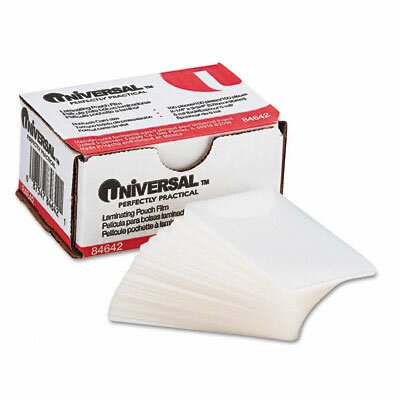 Universal® Clear Laminating Pouches, 100/Box