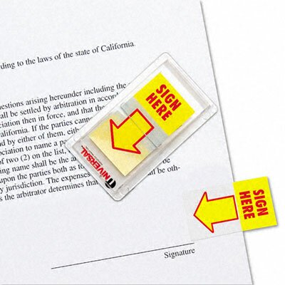 """Universal® """"Sign Here"""" Arrow Page Flags, 2 Dispensers of 50 Flags/Pack"""