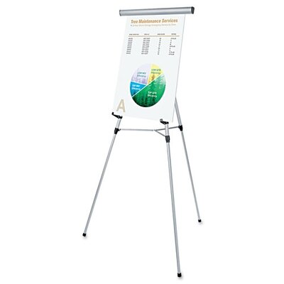 """Universal® 3-Leg Telescoping Easel with Pad Retainer, Adjusts 34"""" To 64"""""""