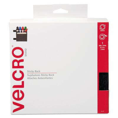 "VELCRO USA Inc Sticky-Back Hook and Loop Fasteners In Dispenser, 3/4"" X 30 Ft. Roll"