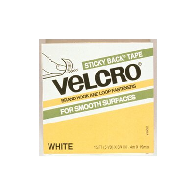 VELCRO USA Inc Velcro Tape 3/4 X 18 Strips White