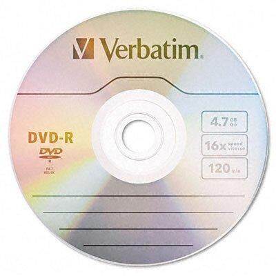 Verbatim Corporation Spindle Dvd-R Discs, 4.7Gb, 16X, 50/Pack