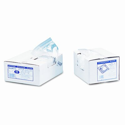 Webster Industries Resealable Clear Plastic Storage Bags, 1 gal, 1.75 mil,10.5 x 11, Clear, 250/Box
