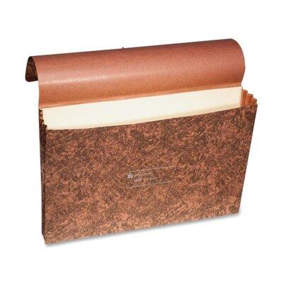 """Wilson Jones LeatherLife Expanding Wallet, Elastic Cord, Legal, 3 1/2"""" Exp, Brown"""