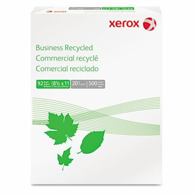 Xerox® Business Recycled Copy Paper, 92 Bright, 20Lb, 8-1/2 X 11, 500 Sheets/Ream