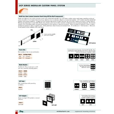 """Middle Atlantic UCP Series 1/4"""" D Cable Punchouts"""