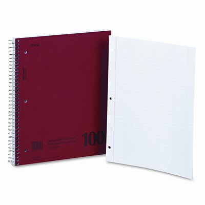 Mead Spiral Bound 1 Subject Notebook, College Rule, 100 Sheets/Pad