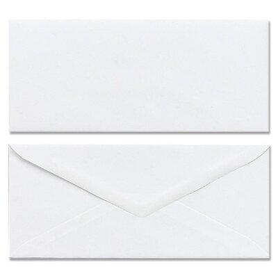 Mead Plain Envelopes, Gummed, No 10, White