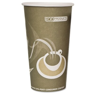 Eco-Products Evolution World Hot Drink Cups, 20 Oz., 1000/Carton