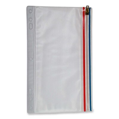 """Anglers Company Ltd. Zip-All Ring Binder Pockets, 9-1/2""""x6"""", Clear"""