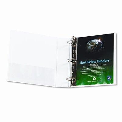 "Aurora Products Cardinal Clearvue Xtravalue Slant D-Ring Presentation Binder, 4"" Capacity"