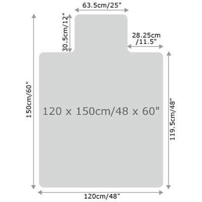Floortex Cleartex Ultimat Polycarbonate Chair mat for Low & Medium Pile Carpets