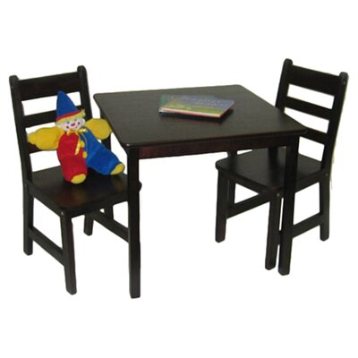 Lipper International Kids' 3 Piece Table and Chair Set