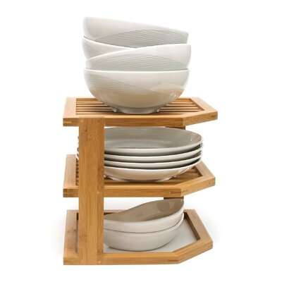 Bamboo 3 Tier Corner Shelf by Lipper International