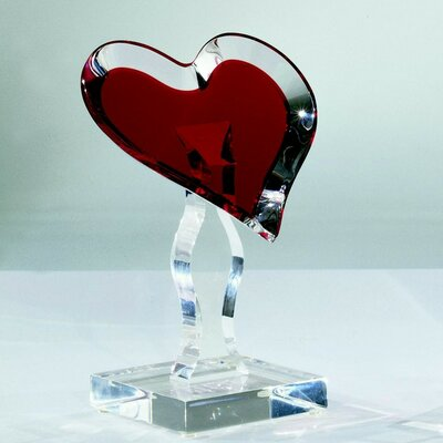 Sculptures and Art Pieces Acrylic Loving Heart Sculpture by Shahrooz