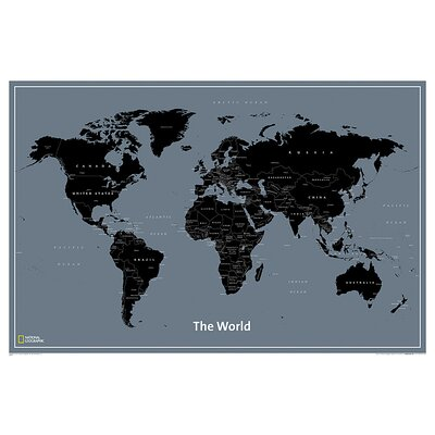 World Modern Map by National Geographic Maps