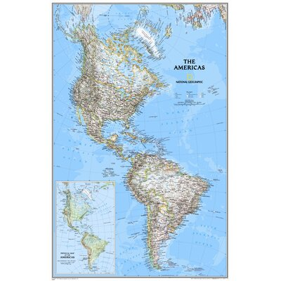 National Geographic Maps The Americas Classic Wall Map