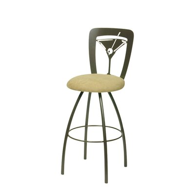 Trica Martini Swivel Bar Stool With Cushion Amp Reviews