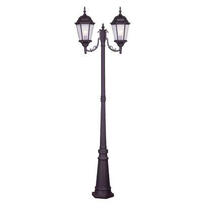 "Livex Lighting Hamilton 2 Light 86"" Outdoor Post Lantern Set"