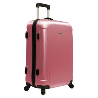 """Traveler's Choice Freedom Lightweight Hard-shell 25"""" Spinner Suitcase in Pink"""