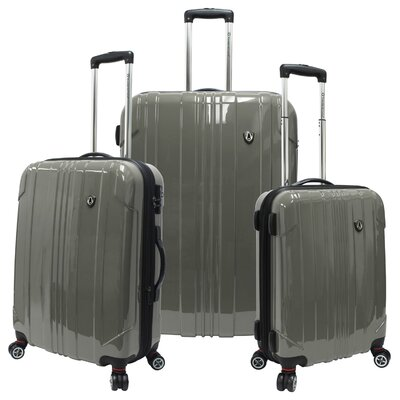Sedona 3 Piece Expandable Spinner Luggage Set by Traveler's Choice