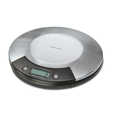Electronic Kitchen Scale in Stainless with Black Accents by Salter
