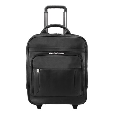 Wicker Park Leather Detachable-Wheeled Three-Way Computer Backpack by McKlein USA