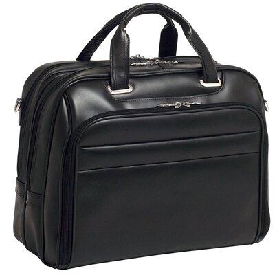 R Series Springfield Leather Laptop Briefcase by McKlein USA