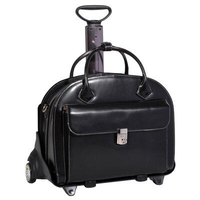 W Series Glen Ellyn Leather Laptop Briefcase by McKlein USA