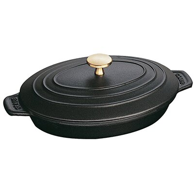 1 Qt. Cast Iron Oval Braiser with Lid by Staub