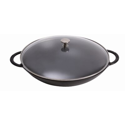 6 Qt Specialty Wok with Handles in Black by Staub
