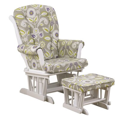 Periwinkle Floral Glider with Ottoman by Cotton Tale
