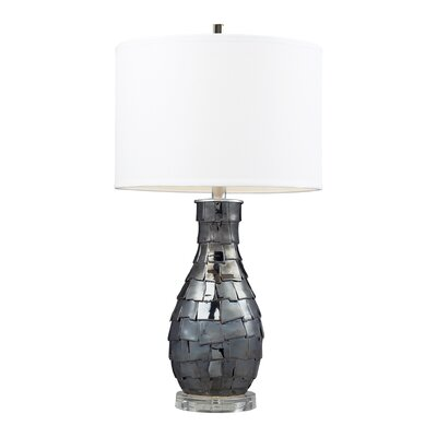 """Dimond Lighting Cooper 25"""" H Table Lamp with Drum Shade"""