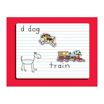 Patch Products Dry Erase Lined Graphic Wall Mounted Whiteboard, 1' x 1'