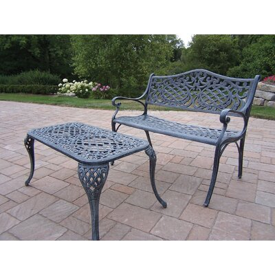 Oakland Living Mississippi 2 Piece Bench Seating Group Set