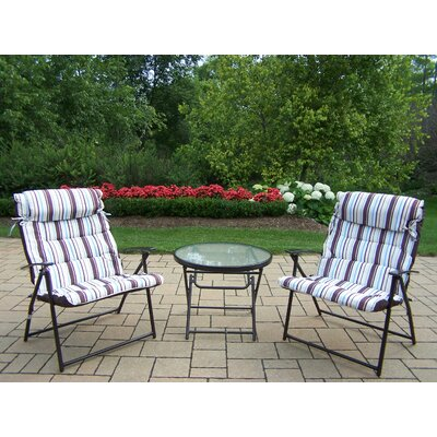 3 Piece Folding Bistro Set by Oakland Living