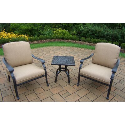 Hampton 3 Piece Deep Seating Chat Set with Cushions by Oakland Living