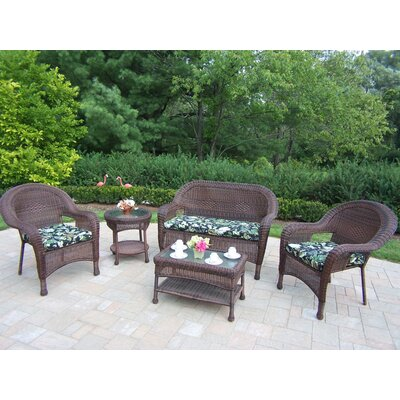Oakland Living 5 Piece Lounge Seating Group Set