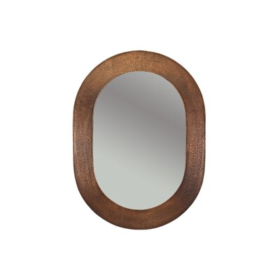 Hand Hammered Oval Copper Mirror by Premier Copper Products