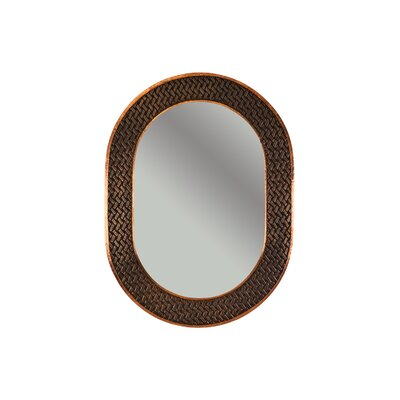 Braided Hand Hammered Oval Copper Mirror by Premier Copper Products