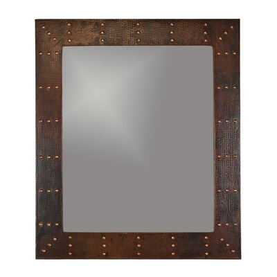 Riveted Hand Hammered Copper Mirror by Premier Copper Products