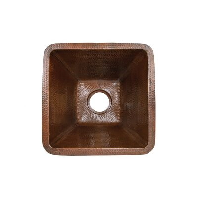 "17"" x 17"" Square Hammered Bar Sink Product Photo"