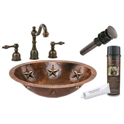 Star Under Counter Hammered Sink by Premier Copper Products