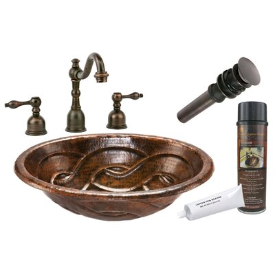 Braid Self Rimming Hammered Bathroom Sink by Premier Copper Products