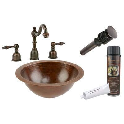 Under Counter Hammered Bathroom Sink by Premier Copper Products