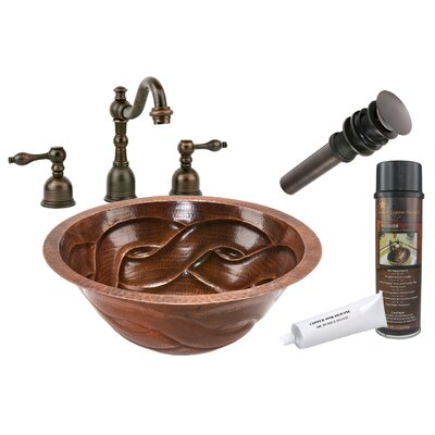 Braided Under Counter Hammered Bathroom Sink by Premier Copper Products