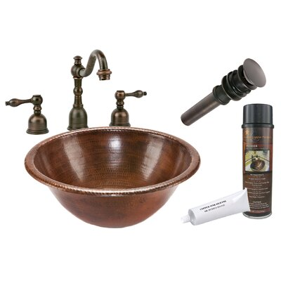 Self Rimming Hammered Bathroom Sink by Premier Copper Products