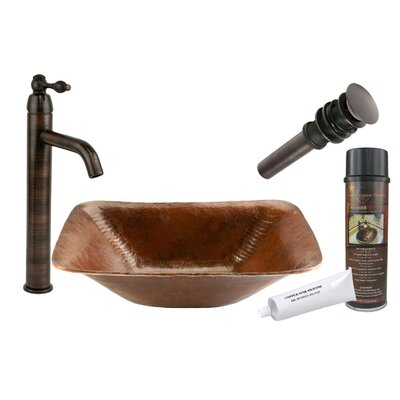 Old World Hand Forged Vessel Sink by Premier Copper Products