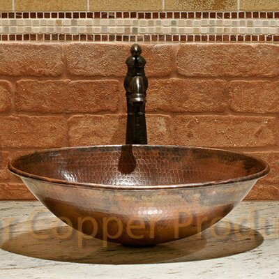 Oval Wired Rimmed Vessel Bathroom Sink Product Photo
